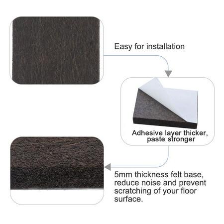 "Felt Furniture Feet Pads Square 3/4"" Self Adhesive Feet Floor Protector 80pcs - image 3 of 7"