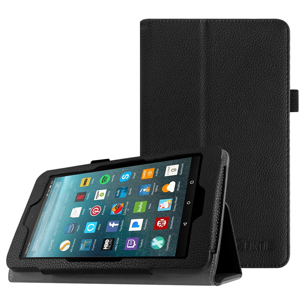 Fintie Folio Case for All-New Amazon Fire 7 Tablet (7th Gen, 2017 Release) - Slim Fit PU Leather Stand Cover