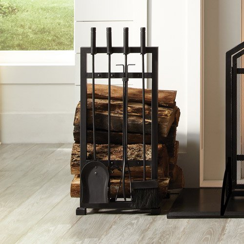 Free Shipping. Buy Pleasant Hearth 4-Piece Harper Fireplace Toolset with Log Holder at Walmart.com