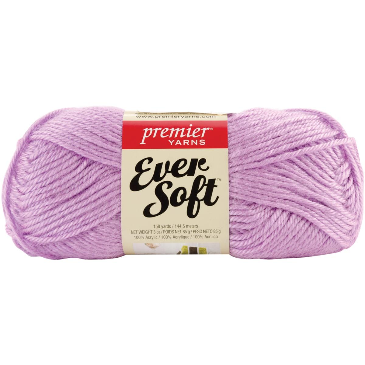 Premier Ever Soft Yarn Lot Of 3 Skeins 3 oz. Lilac #70-13