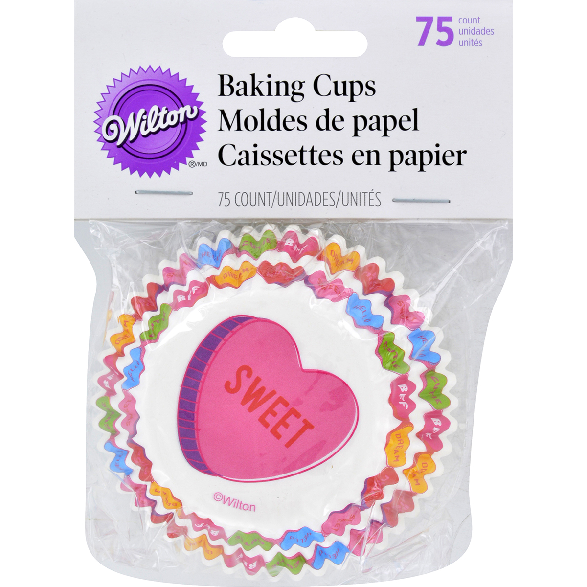 Standard Baking Cups-Words Can Express 75/Pkg