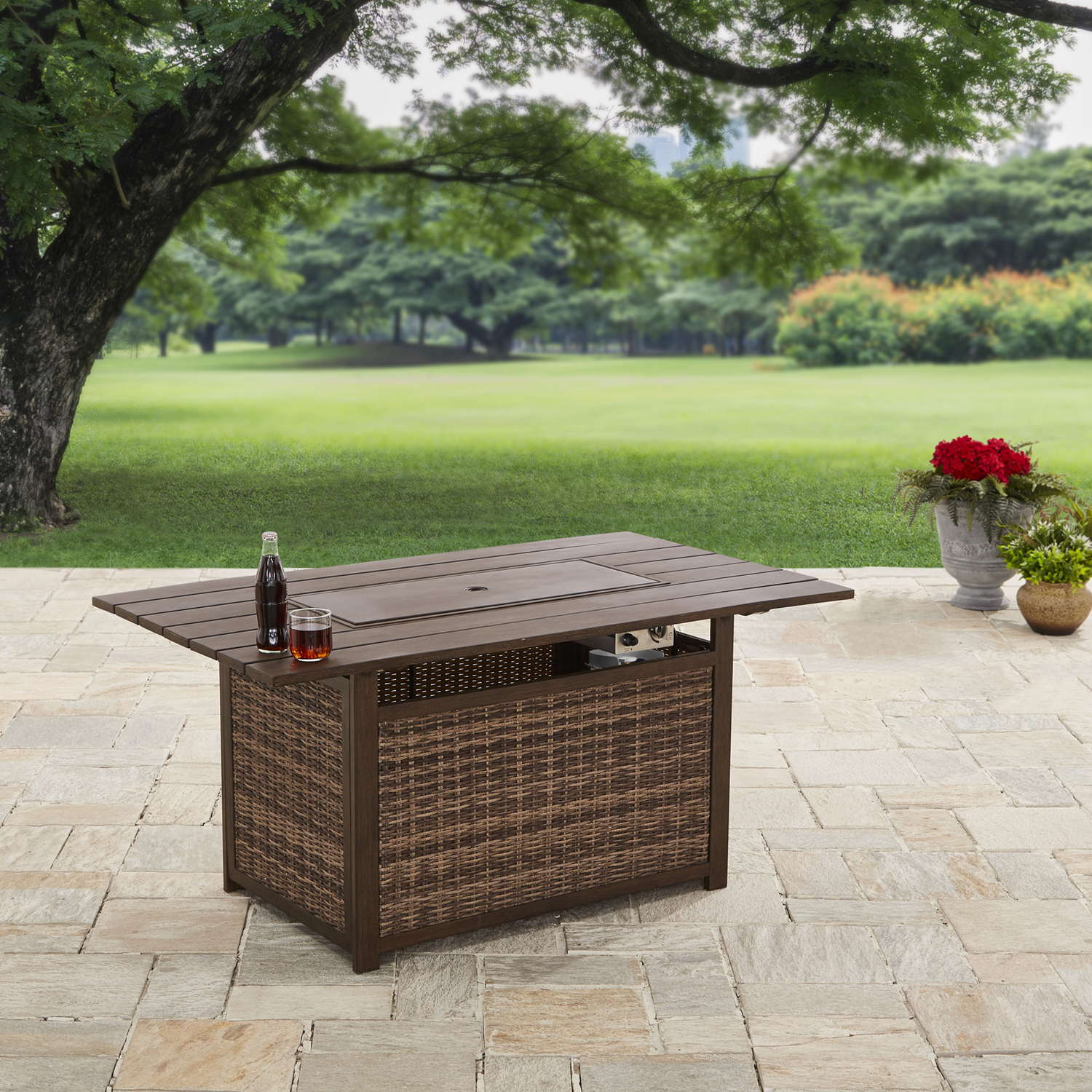 "Better Homes and Gardens 54"" Rectangle Fire Pit - Gas"
