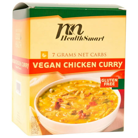 HealthSmart - High Protein Diet Dinner - Vegan Chicken Curry - 15g Protein - Low Calorie - Low Carb - Low Fat - Vegan - - Calorie Dinners