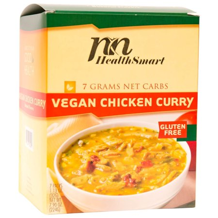 HealthSmart - High Protein Diet Dinner - Vegan Chicken Curry - 15g Protein - Low Calorie - Low Carb - Low Fat - Vegan -