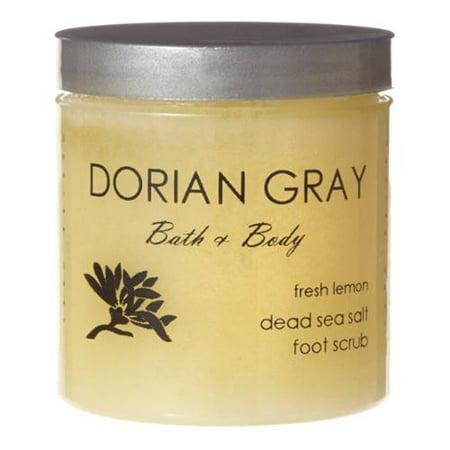 Dorian Gray Bath And Body Fresh Lemon Mineral 8 Ounce Foot Scrub