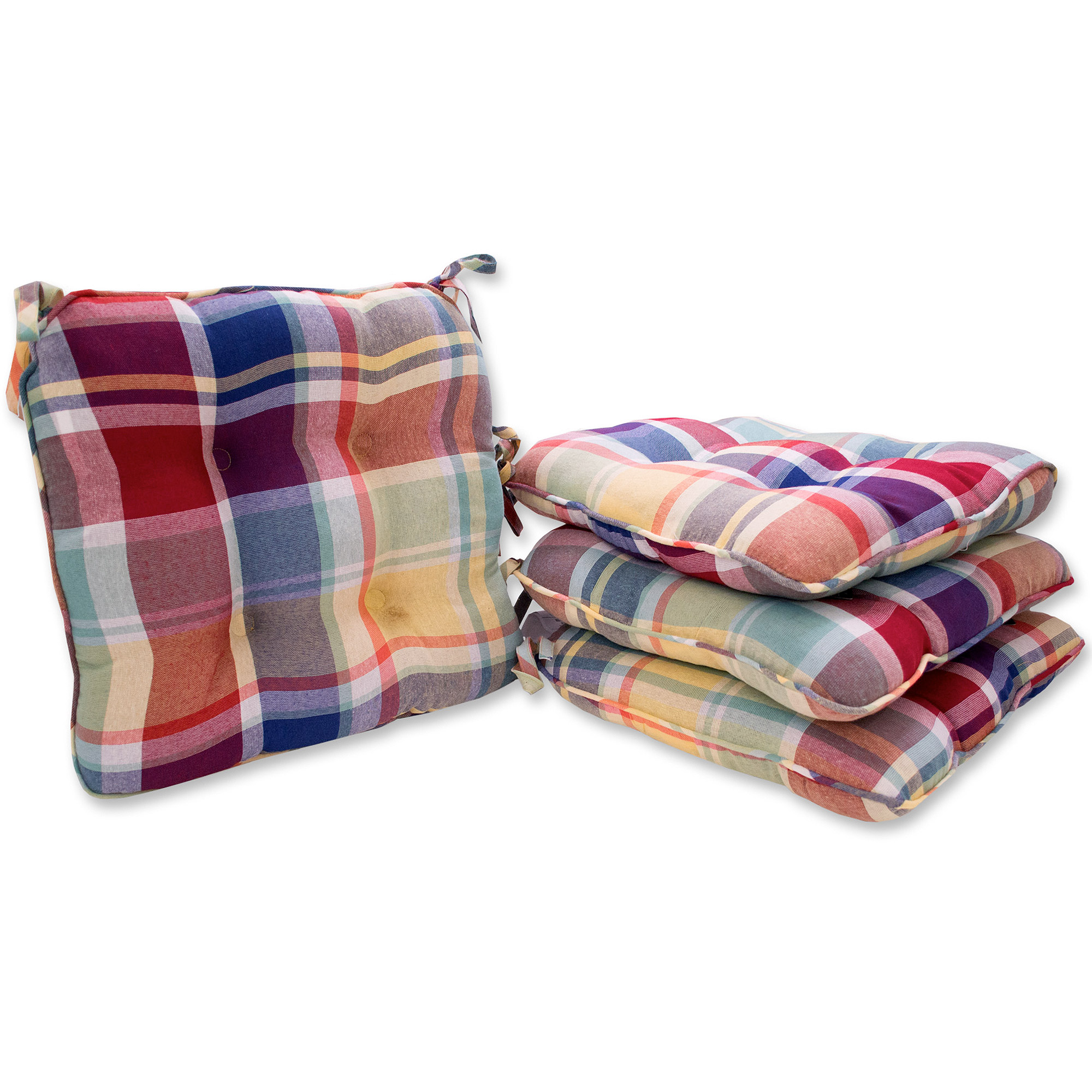 Attrayant Mainstays Rave Plaid Chair Pad, Set Of 4