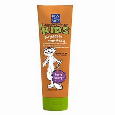 Kiss My Face Kids Fluoride Free Toothpaste, Berry Smart, 4 Oz