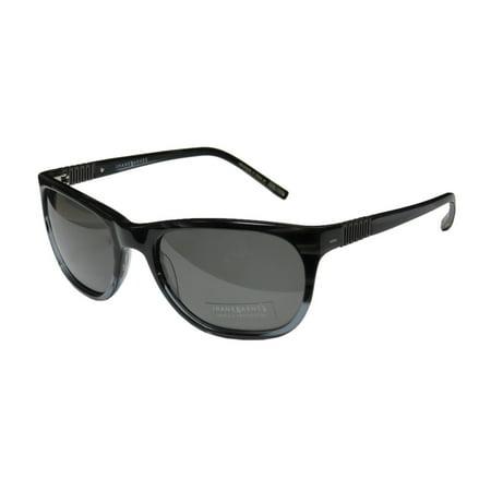 New Jhane Barnes 930 Womens/Ladies Designer Full-Rim 100% UVA & UVB Black / Blue / Gray Gorgeous Fashionable Inexpensive Shades Sunnies Frame Gray Lenses 56-21-130 Sunglasses/Sun (Cheap Fashionable Sunglasses)