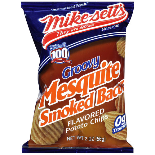 Mike-sell's Groovy Mesquite Smoked Bacon Flavored Potato Chips, 2 oz