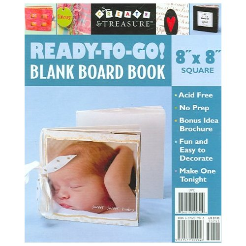 Ready to Go! Blank Board Book: 8 X 8, Square White