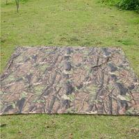 HERCHR Tarp Cover, Waterproof Camo Tent Tarp Sheet Canopy Awning Rain Cover Camping Shelter Hiking, Sun Shelter,Tent Rain Cover