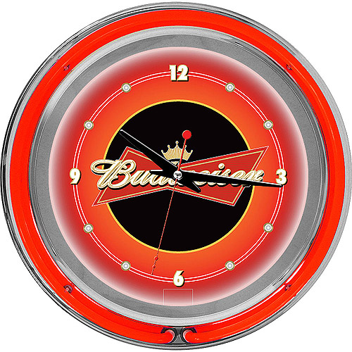 "Budweiser 14"" Double Ring Neon Wall Clock"