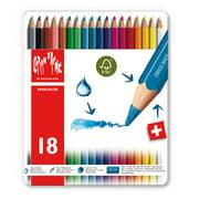 Caran d'Ache, Fancolor Water-Soluble Colored Pencils, 18 Colors