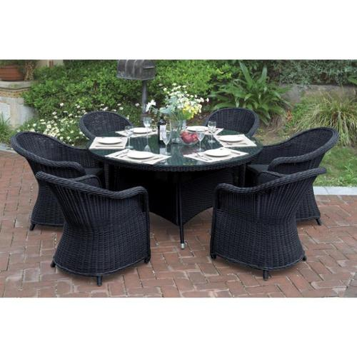 CDecor Bolinas Serenity Dark Brown/ Tan 7-piece Patio Set