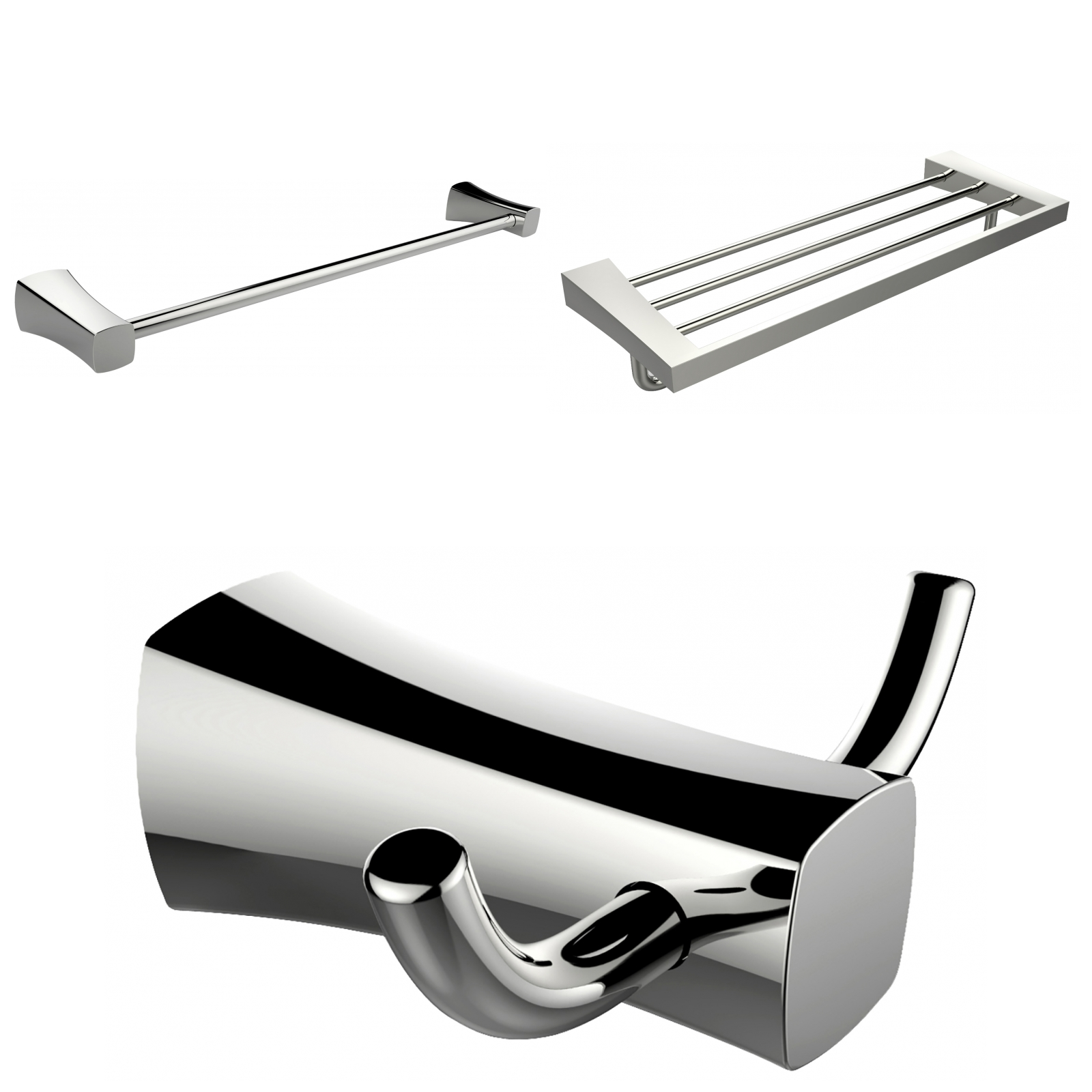 Multi-Rod Towel Rack With Robe Hook And Single Towel Rod ...
