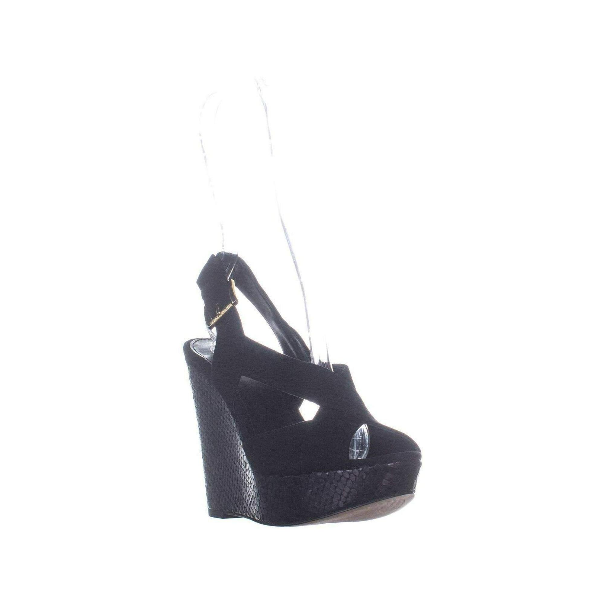 0e403e18f85 Michael Michael Kors Womens Becky Wedge Open Toe Casual Ankle ...