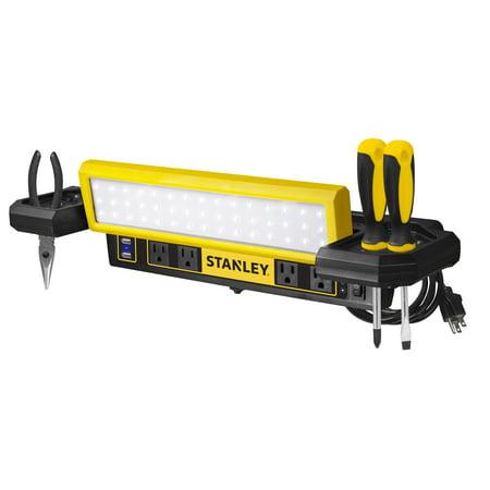 STANLEY Work Bench LED Shop Light Power Station PSL1000S