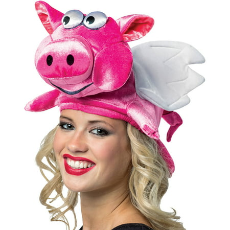Flying Pig Hat Adult Halloween Accessory (Pig Halloween)