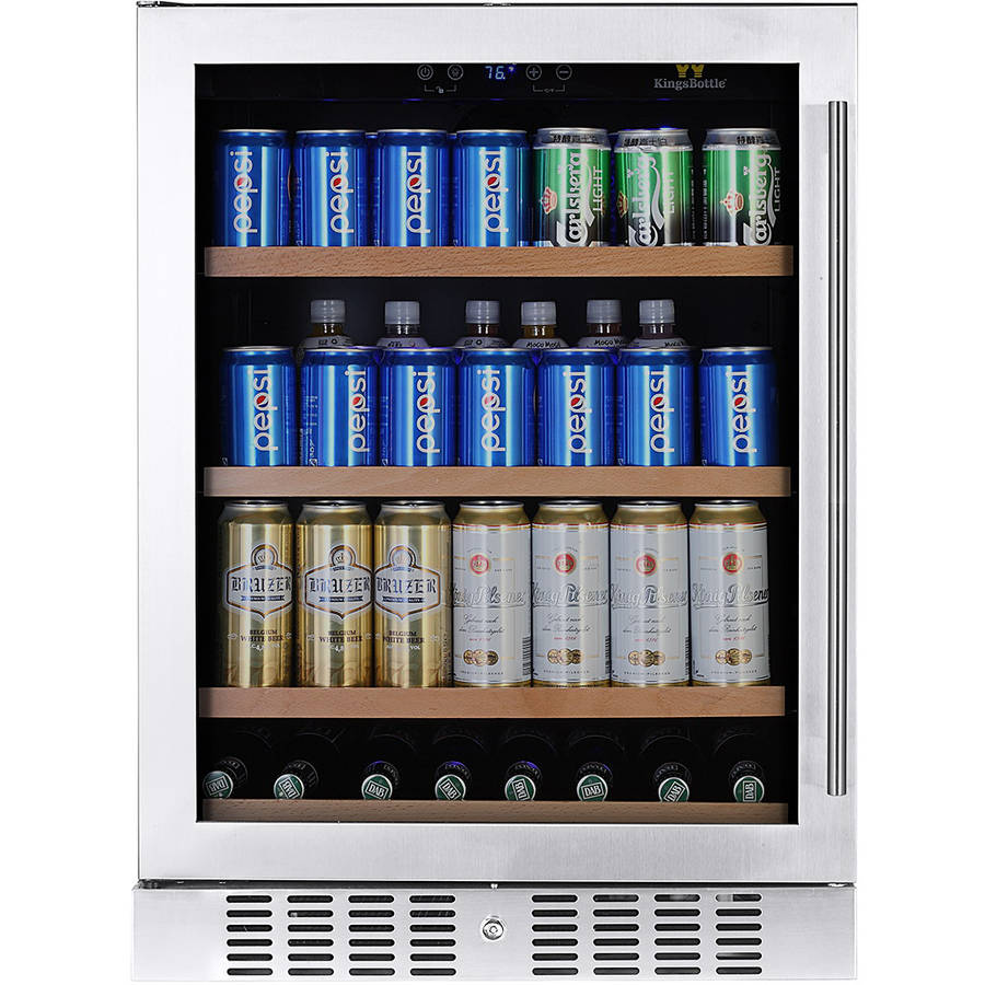 180-Can Beverage Fridge, Silver