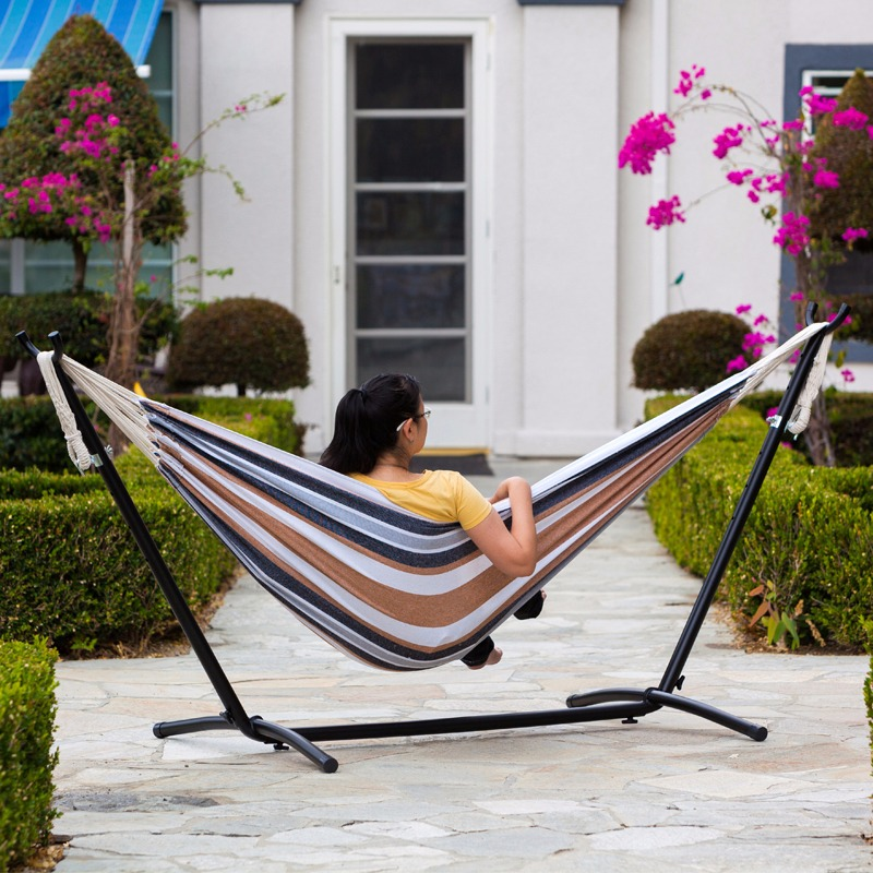 Double Hammock, with Steel Stand and Portable Carrying Case
