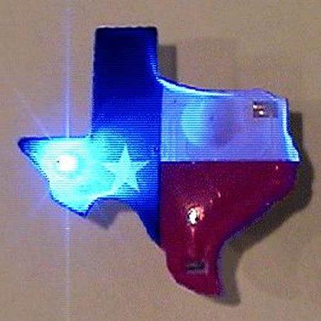 Texas Flashing Body Light Lapel Pins