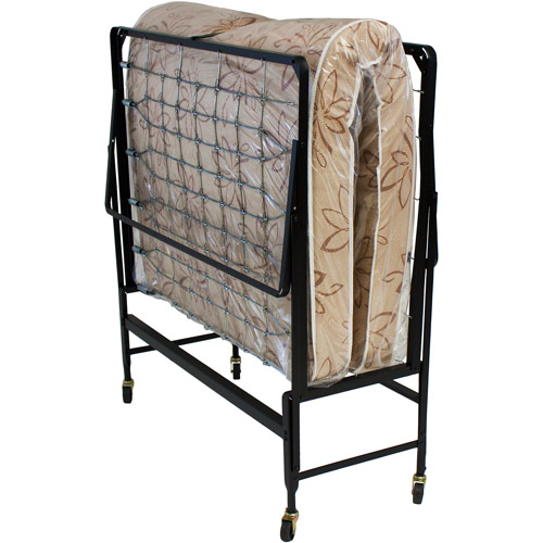 Hollywood Rollaway Bed Fiber Mattress, Foldable with Wheels,Twin