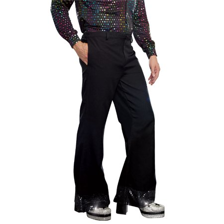 Men's Black Disco Sequin Bell Bottom Pant - Jasmine Halloween Pants