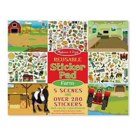 Melissa and Doug Reusable Sticker Activity Pad Farm (Farm Activity Toy)