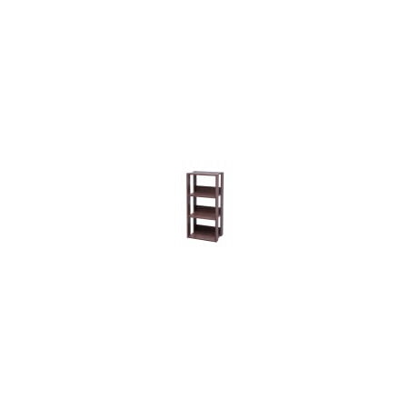 IRIS Mado 3-Shelf Open Wood Shelving Unit, Brown