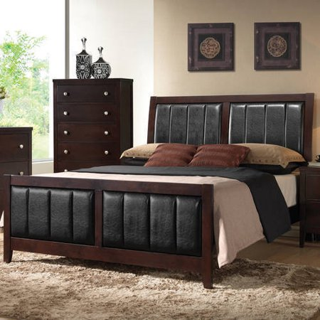 Coaster Company Carlton Collection Queen Bed, Cappuccino