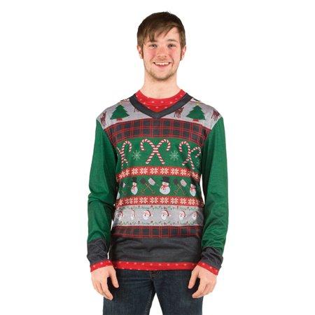 Morris Costumes Mens Christmas Winter Penguin Polyester Sweater L, Style FR113252LG - Penguin Christmas Sweater