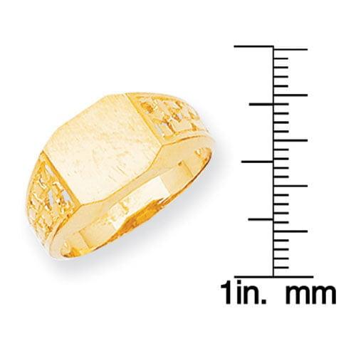 03ea325dc0d7d7 Men's 14-karat Yellow Gold High-polished Signet Ring - Walmart.com