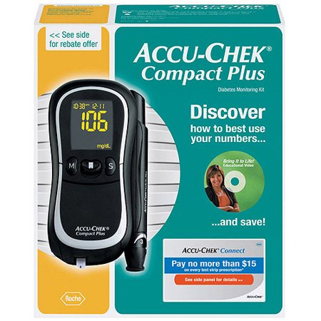 Accu-Chek Compact Plus Blood Glucose Monitoring System, 1.0 CT
