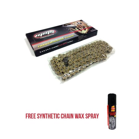 415H – 120 Links Standard Roller Transmission Chain Motorcycle Scooter ATV 50cc + FREE TOP1 Synthetic Chain Wax