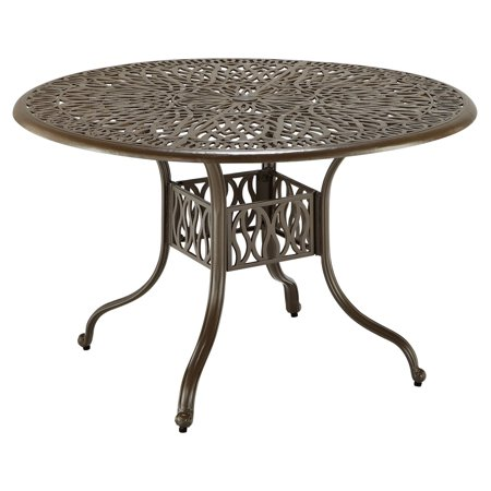 Floral Blossom Taupe 48 Inch Dining Table ()