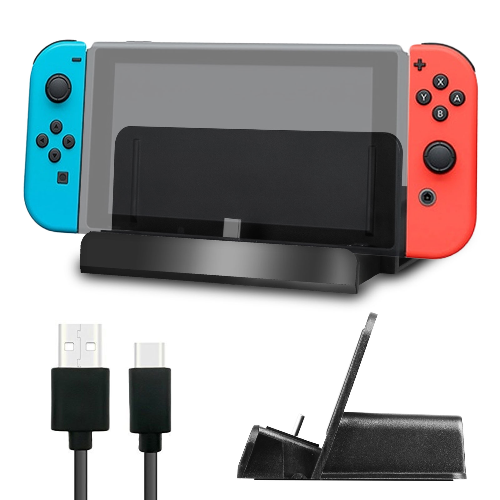 TSV Portable Charge Docking Station Stand Charging Dock Kit for Nintendo Switch