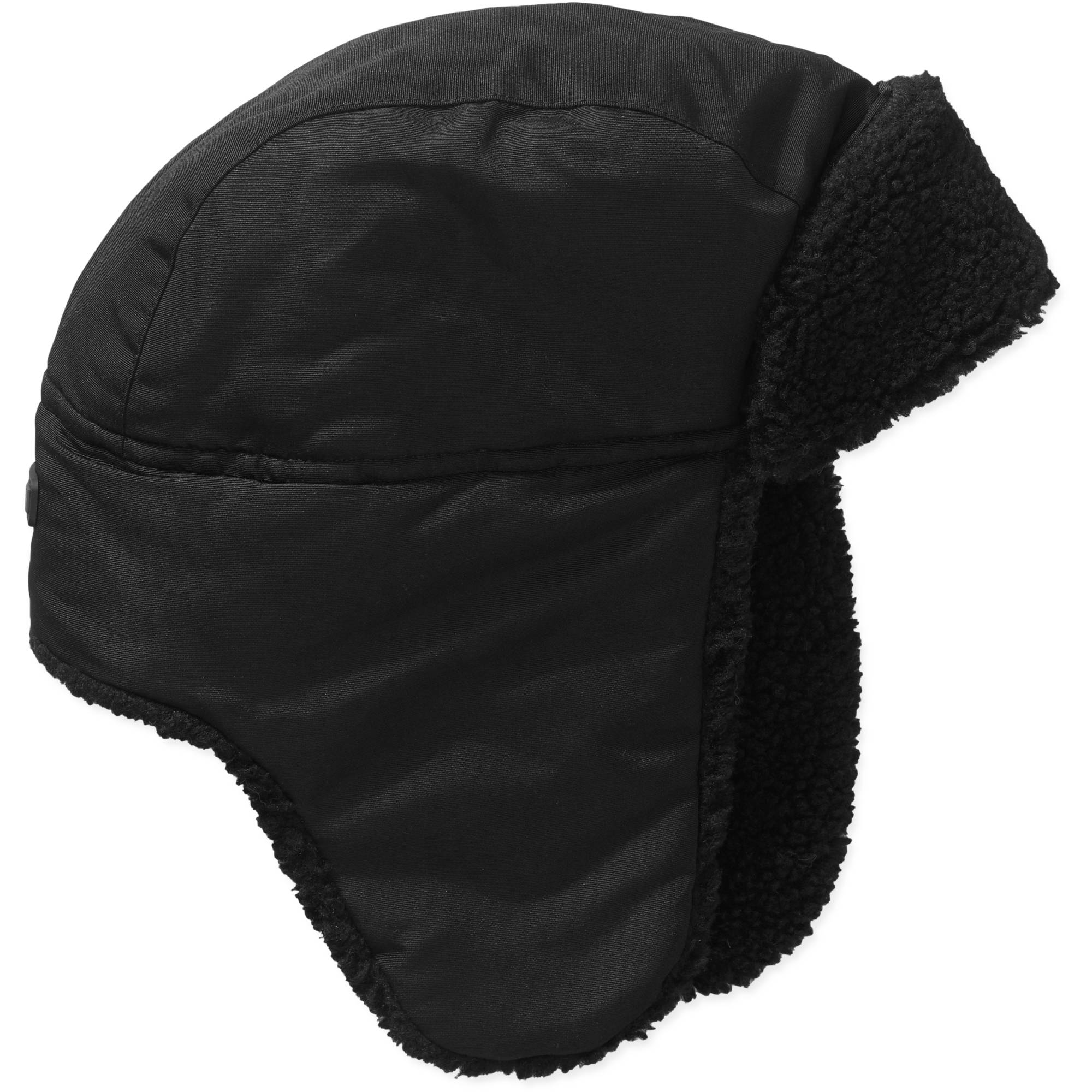 Boys Swiss Tech Black Trapper Hat