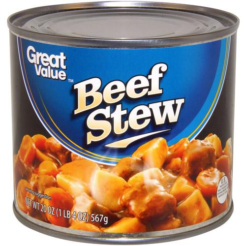Great Value Beef Stew, 20 oz