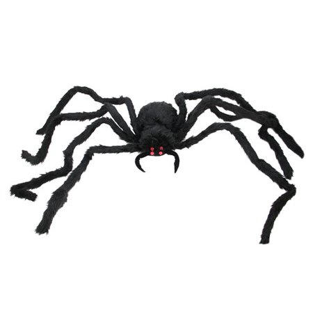 44 battery operated led lighted creepy black spider halloween decoration - Spider Halloween Decoration