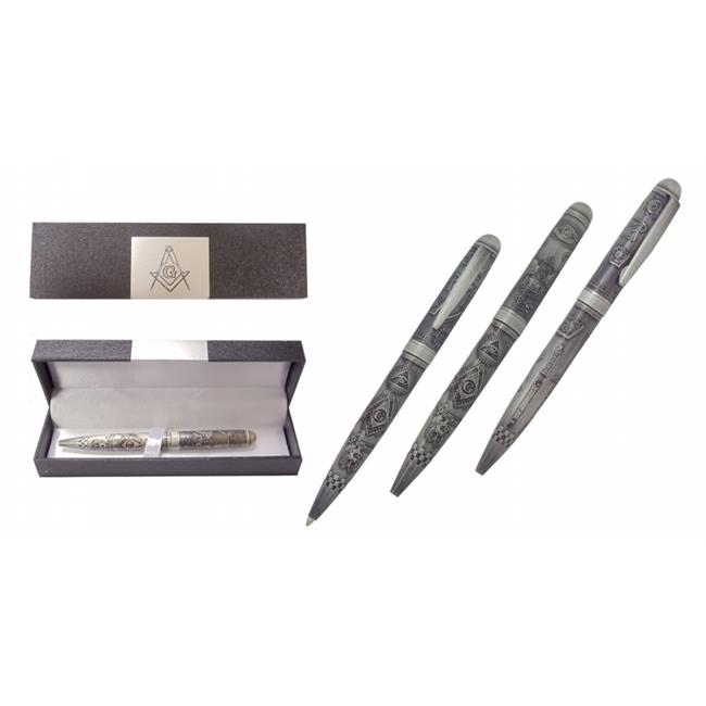 Sigma Impex BP-191 Embossed Masonic Pen With Gift Box, All Metal