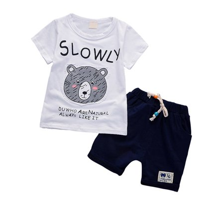 Esho Toddler Kids Baby Boy Outfits Casual Cartoon T Shirt Pant Clothes (Best Casual Outfits For Men)