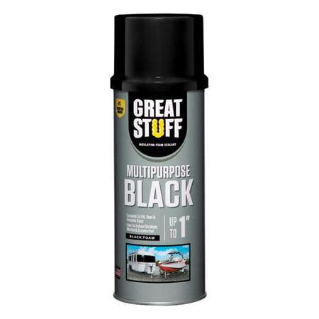 Polyurethane Foam (Great Stuff 99112876 Multipurpose Black Polyurethane Foam Insulating Sealant, 12 Oz )
