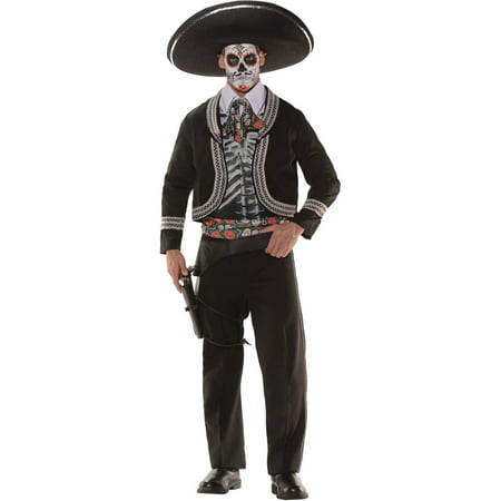 Day Of The Dead Men's Adult Halloween Costume (Halloween Costume Diy Adults)