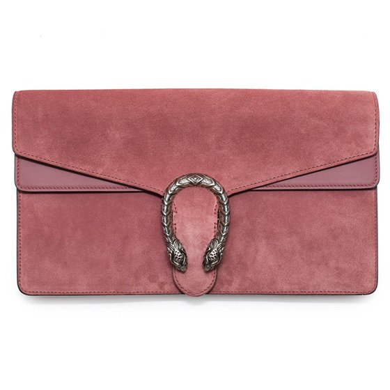 76b67afc3 Gucci - Gucci Dionysus Winter 2016 Pink Suede Clutch Bag New - Walmart.com