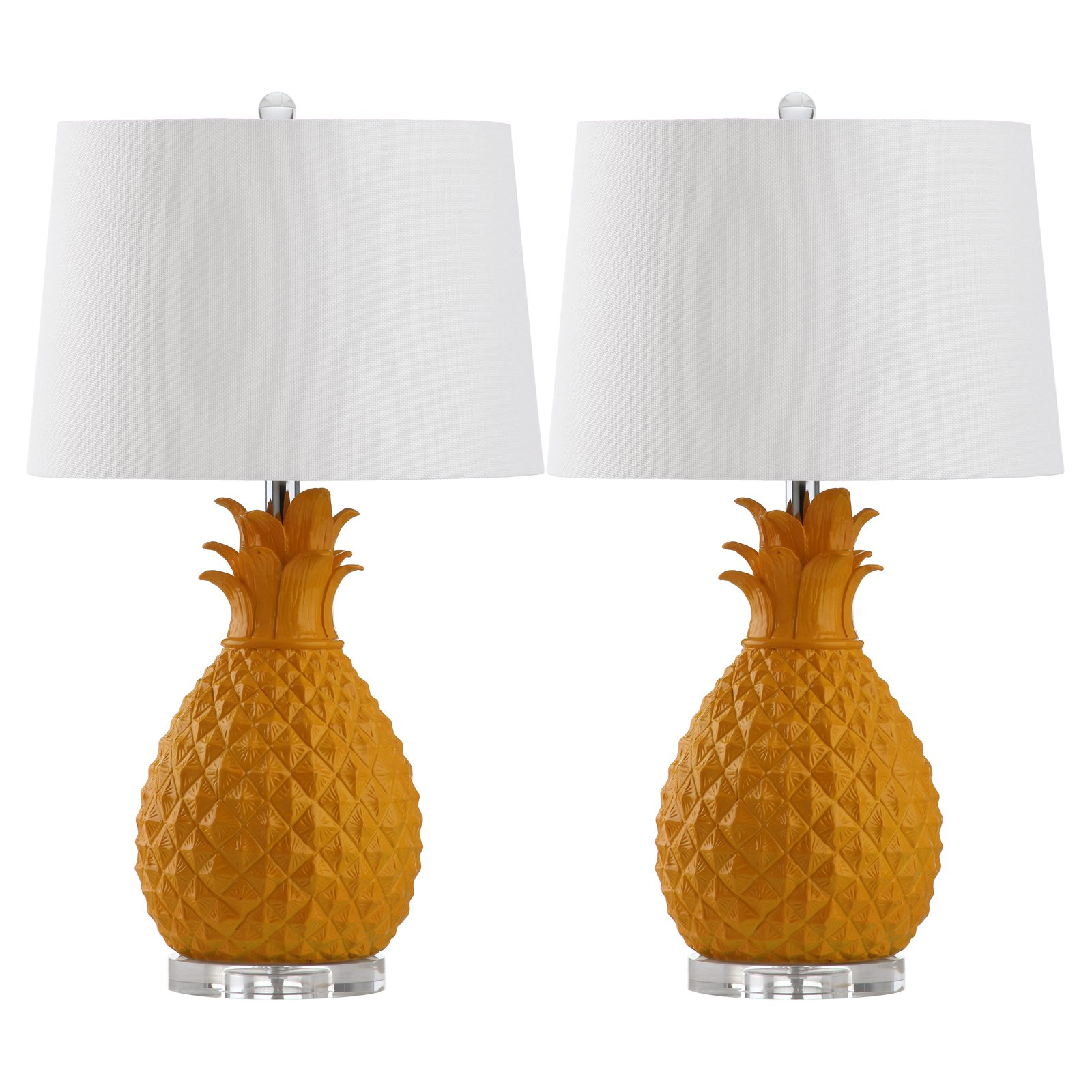 Safavieh Kelly Table Lamp, Yellow, Set of 2