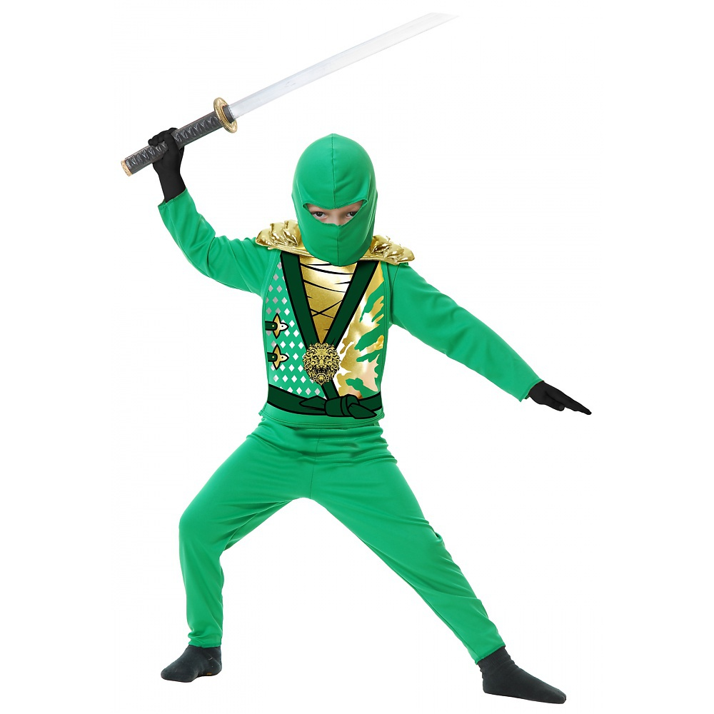 Ninja Avengers Series 4 with Armor Child Costume Green - ...