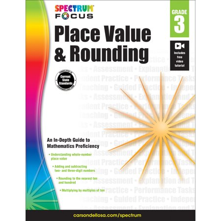 Spectrum Place Value and Rounding, Grade 3 - Value Math