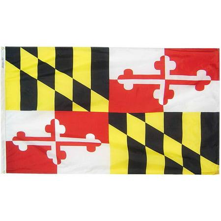 Maryland State Flag, 3' x 5', Nylon SolarGuard Nyl-Glo, Model# 142360