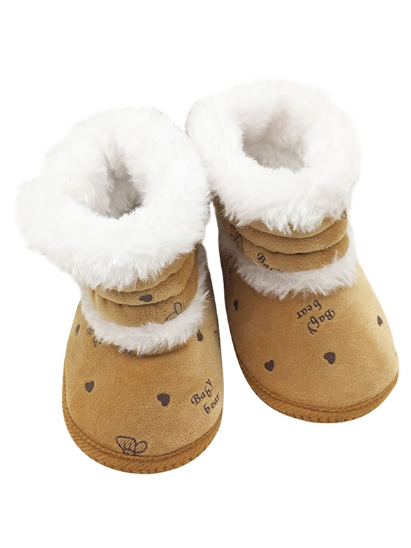 Infant Baby Girls Winter Warm Shoes Kids Anti-Skid Snow Boots 0-18M