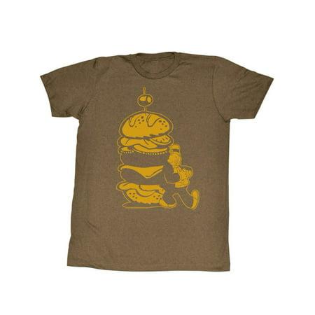 Popeye T-shirt Tee - Popeye Burger For The Boy Adult T-Shirt Tee